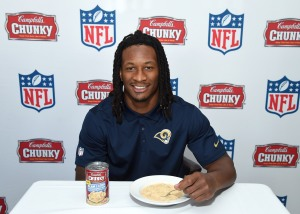 Campbell's Chunky Soup Todd Gurley Press Day